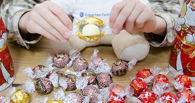 Lindt Weihnachts-Schokolade Schokoladengeschenk Gold im Test - eignet sich ideal zum Verschenken