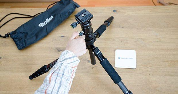 Rollei Compact Traveler No.1 Reisestativ im Test - direkt reisefertig und komplett ausgestattet