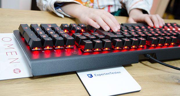 HP OMEN Encoder Gaming Tastatur im Test - RGB-Beleuchtung