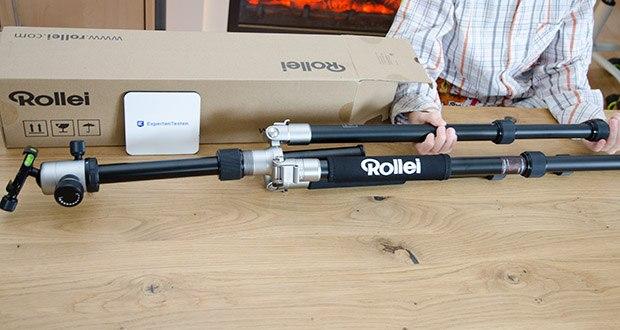 Rollei C5i Fotostativ aus Aluminium im Test - hat eine max. Traglast von 8 kg und bietet durch seine hohe Stabilität immer sicheren Halt für Ihre Fotokamera und Ihr Objektiv