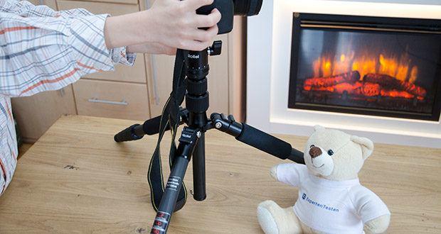 Rollei Compact Traveler No.1 Reisestativ im Test - mit 8kg Tragkraft auch für DSLR-Kameras geeignet