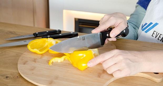 ZWILLING Twin Chef Messer-Set, 3-teilig im Test - 3-teiliges Messer-Set für Profi- und Hobbyköche