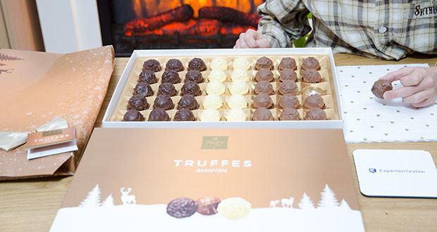Frey Truffes assortiert Geschenkpackung im Test - Trüffelpralinen mit Liebe in einer Geschenkbox verpackt