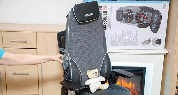 HoMedics Shiatsu MAX 2.0 Rücken- und Schultermassagegerät im Test - luxuriöse, graue Materialien machen den Shiatsu Max 2.0 ideal für das moderne Zuhause