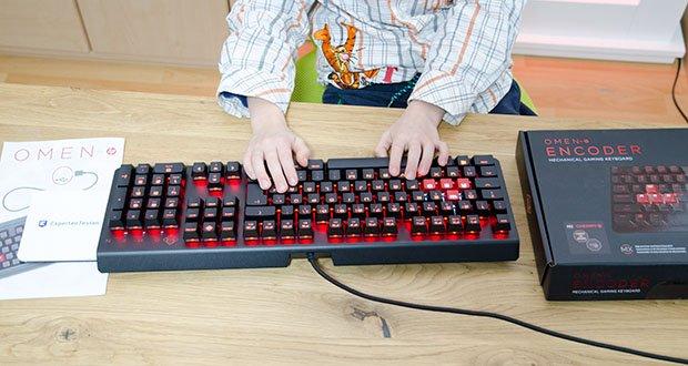 HP OMEN Encoder Gaming Tastatur im Test - ideal für Gamer, die Wert auf präzise Tastenanschläge legen