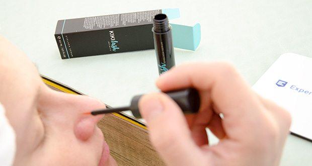 Kikilash Wimpernserum Infinity im Test - für ein optimales Ergebnis empfohlen eine kleine Menge des Serums einmal täglich mit dem schmalen Pinsel auf den oberen Wimpernkranz aufzutragen