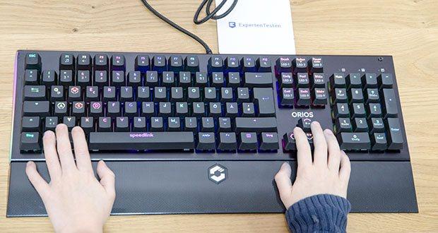 Speedlink Orios RGB Opto-Mechanische Gaming Tastatur im Test - die rutschfeste Unterseite in Verbindung mit der robusten und widerstandsfähigen Metall-Oberfläche machen diese Gaming-Tastatur zu einem langlebigen Begleiter