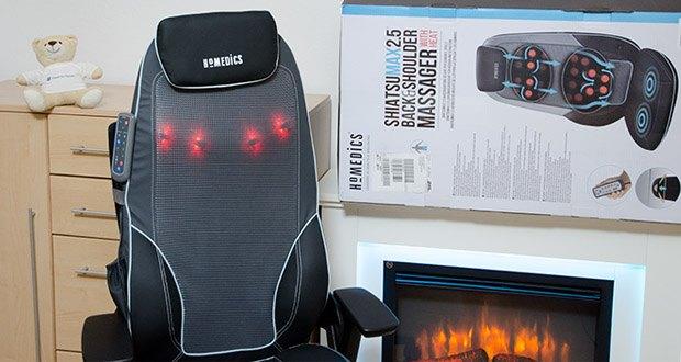 HoMedics Shiatsu MAX 2.0 Rücken- und Schultermassagegerät im Test - beruhigende Wärmefunktion zur Muskelentspannung