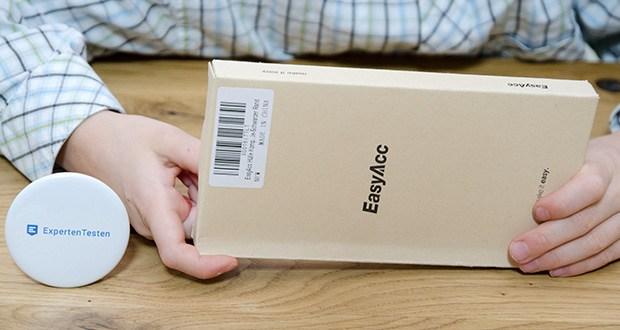 EasyAcc IPhone 12 Hülle mit schwarzen Rahmen im Test - Produktabmessungen : 16.1 x 7.3 x 1 cm; Gewicht: 60 Gramm