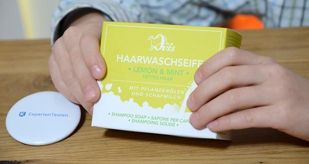Ovis Haarseife mit Lemon und Mint im Test - ist im Gegensatz zu Shampoo leicht rückfettend und reinigt Haar und Kopfhaut besonders sanft und schonend