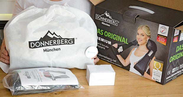 Donnerberg Nackenmassagegerät Premium NM089 im Test - tiefdringende Infrarotwärme und flexible Massageköpfe, in Kombination mit der Vibrationsfunktion, verleihen das Gefühl einer natürlichen Knetmassage