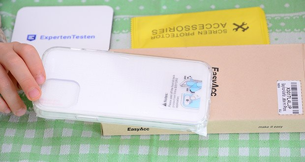 EasyAcc IPhone 12 durchsichtige Hülle im Test - Anti-Rutsch-Eigenschaft des TPU-Rahmens ermöglicht eine Einhandbedienung, ohne versehentliches Herunterfallen und unerwünschte Schäden
