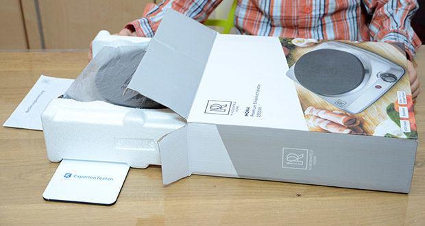 M.Rosenfeld Premium Einzelkochplatte Mona im Test - schnelle Erhitzung