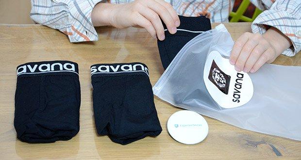 Savana Herren Boxershorts im Test - atmungsaktives Material