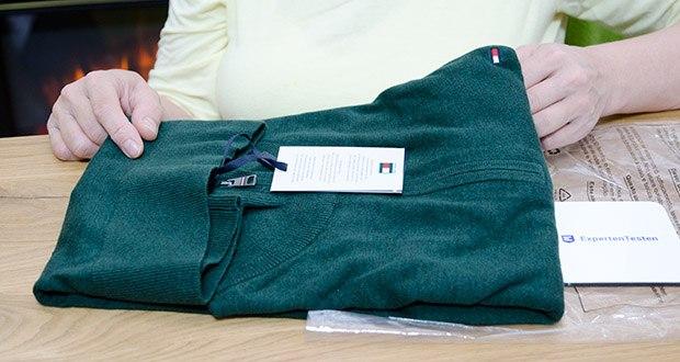 Tommy Hilfiger Herren Organic Cotton Blend Zip Mock Pullover im Test - Größe: L, Farbe: Hunter Heather