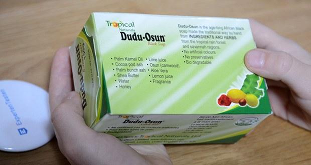 Tropical Naturals Bio Dudu-Osun Schwarze Seife im Test - ohne künstliche Farb- und Konservierungsstoffe