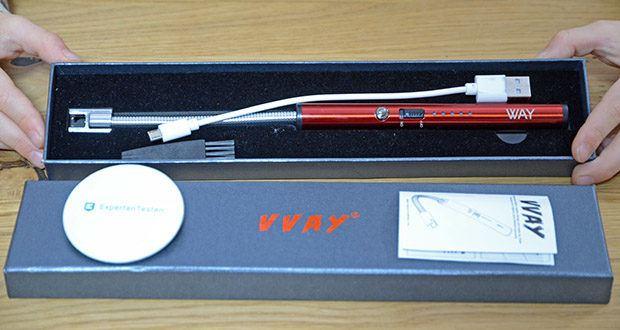 VVAY Flexibles Elektro Stabfeuerzeug im Test - aus Zink-Legierung wird dieses Feuerzeug nie rosten oder schmelzen