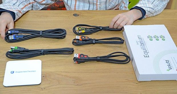 Volutz Micro USB Kabel 5er Pack im Test - Sie erhalten: ein 5er Set (3m, 2m, 3 x 1m) Micro USB Kabel