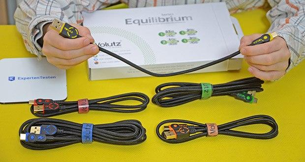 Volutz USB C Kabel 5er Pack im Test - Sie erhalten: ein 5er Set (3m, 2m, 2x 1m, 0,3m) USB C Kabel