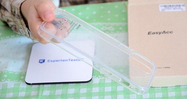 EasyAcc IPhone 12 durchsichtige Hülle im Test - erlaubt Ihnen einfachen Zugang zu allen Anschlüssen, Knöpfen und Steuerungen, als würde keine Hülle da sein