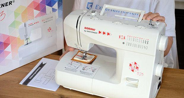 Gritzner Dorina Freiarm-Nähmaschine 323 im Test - bietet eine große Auswahl an verschiedenen Nutz- und Zierstichprogrammen, die sich leicht einstellen lassen