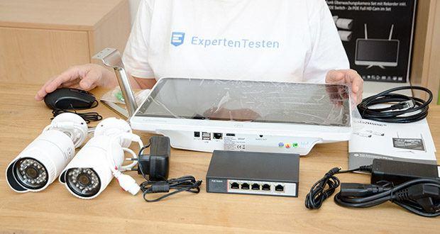Safe2Home Funk Überwachungskamera Set im Test - alles in dem Monitor enthalten: 500 GB Festplatte, Rekorder, Wiedergabe + Speicherung von bis zu 4 Full HD Cams