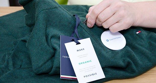 Tommy Hilfiger Herren Organic Cotton Blend Zip Mock Pullover im Test - besticht mit einer edlen Materialkombination aus Bio Baumwolle und Seide