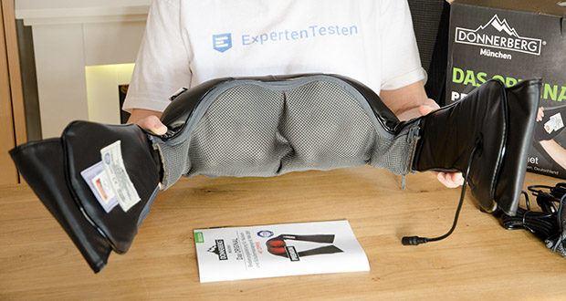 Donnerberg Nackenmassagegerät Premium NM089 im Test - hat eine ergonomische Form und kann sich natürlich dem Körper anpassen