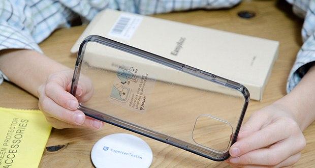 EasyAcc IPhone 12 Hülle mit schwarzen Rahmen im Test - entdecken Sie das Originaldesign Ihres Telefons mit extremer Transparenz