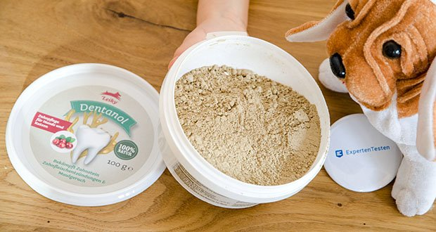 Leiky Dentanol Ergänzungsfutter im Test - ist ein Naturprodukt zur Bekämpfung von Zahnstein, Maulgeruch und Zahnfleischentzündungen bei Hunden und Katzen