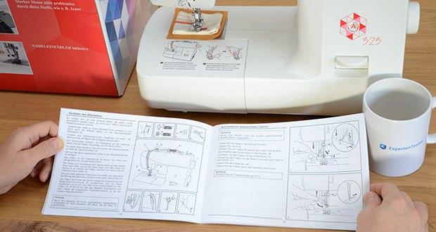 Gritzner Dorina Freiarm-Nähmaschine 323 im Test - auch das Nähen von Kissen und Kuscheltieren ist mit dem richtigen Schnittmuster kein Problem mehr