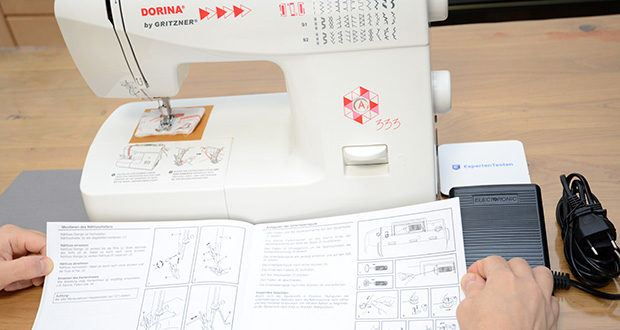 Gritzner Dorina Nähmaschine 333 im Test - dank der einfachen Einstellung der verschiedenen Sticharten lässt sich jede Idee in die Tat umsetzen