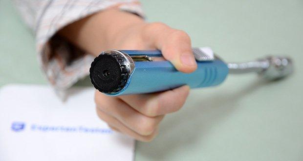 VVAY Flexibles Gas Jetflamme Stabfeuerzeug im Test - ergonomische Griffe mit Gasfenster