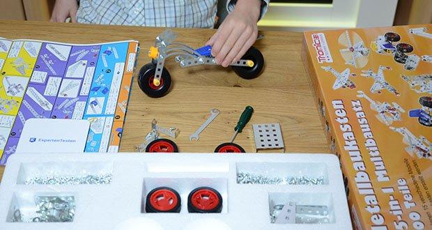 Tronico 15-in-1 Multibaukasten Fahrzeuge im Test - Grundschule - Fördert die Kreativität, Augen-Hand-Koordination, Motorik und das dreidimensionale Vorstellungsvermögen