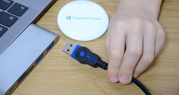 Volutz Micro USB Kabel 5er Pack im Test - das USB auf Micro USB Schnellladekabel bietet eine Stromladung von 2.4A /3V und einer Datenübertragung von bis zu 480Mbit/s bei USB 2.0
