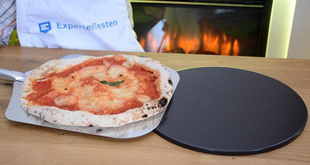 Esprevo Pizzastein Set im Test - speichert die Hitze des Backofens und gibt sie anschließend gleichmäßig an den Pizzaboden ab