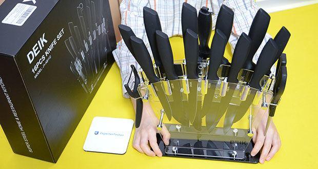 Deik Messerblock Set im Test - mit schlichtes und exquisites Aussehen, Deik Messerset ist für jeden Küchendekorationsstil geeignet