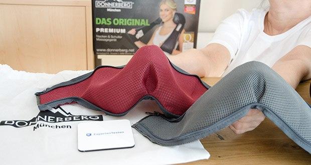 Donnerberg Nackenmassagegerät Premium NM089 im Test - 2x gratis austauschbare Ersatzbezüge - weich, robust und waschbar, für eine hygienische und langlebige Anwendung