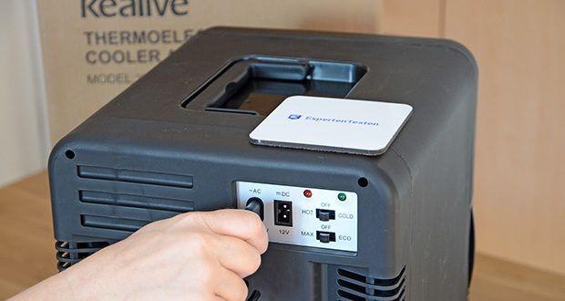 Kealive Mini Kühlschrank im Test - tauschen Sie einfach das Netzkabel aus und Sie können es als Minikühlschrank zu Hause oder im Auto als Autokühlschrank verwenden