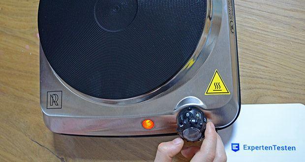 M.Rosenfeld Premium Einzelkochplatte Mona im Test - wählen Sie die richtige Temperatur für Ihr Kochen