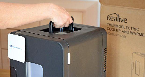 Kealive Mini Kühlschrank im Test - klein und leicht zu tragen