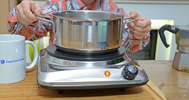 M.Rosenfeld Premium Einzelkochplatte Mona im Test - funktioniert mit allen Arten von Kochgeschirr