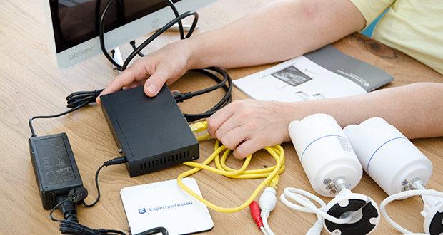 Safe2Home Funk Überwachungskamera Set im Test - Plug & Play System durch automatischen Suchlauf nach eingeschalteten Kameras