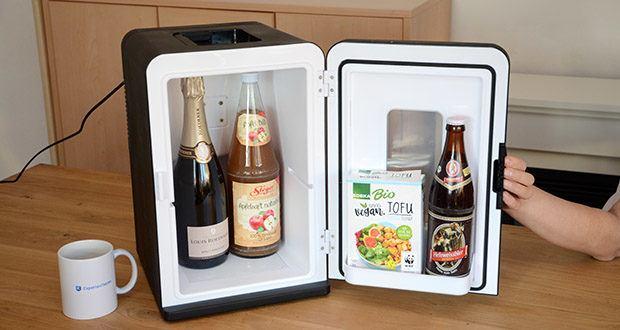 Kealive Mini Kühlschrank im Test - der 15-Liter-Autokühlschrank bietet ausreichend Platz für die Lieblingsspeisen aller