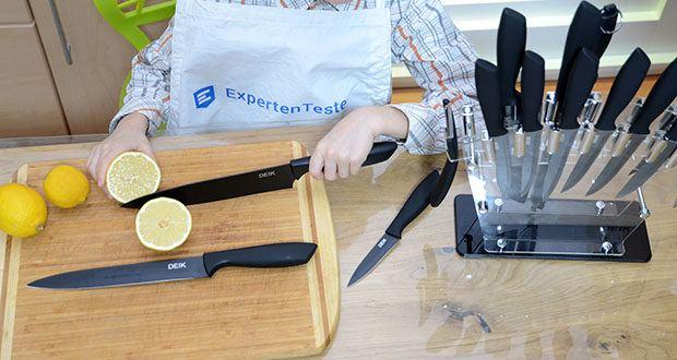 Deik Messerblock Set im Test - kochen Sie aufwendige und köstliche Gerichte mit gut verarbeiteten Messern