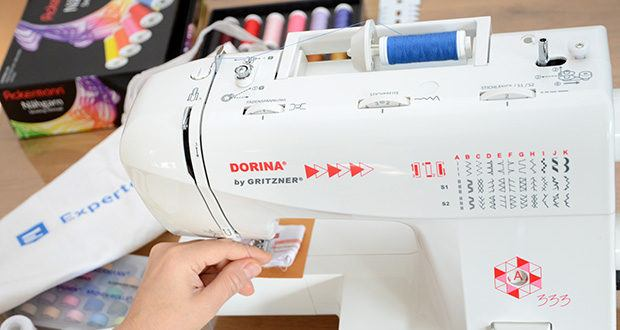 Gritzner Dorina Nähmaschine 333 im Test - stufenlose Einstellung der Stichlänge, Stichbreite und Fadenspannung