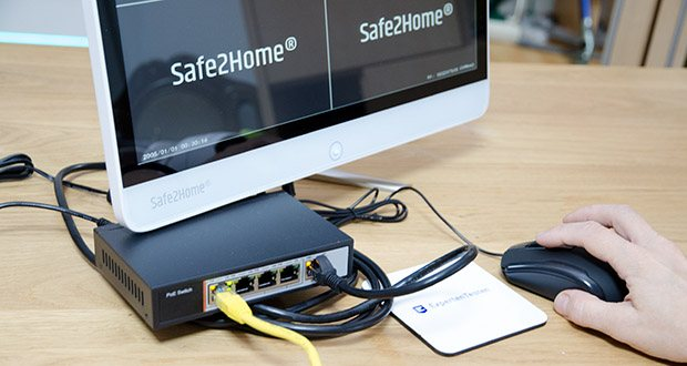 Safe2Home Funk Überwachungskamera Set im Test - mit dem All-in-One Kamerasystem zur wirkungsvollen Videoüberwachung haben Sie den NVR (Netzwerk Video Recorder) in einem praktischen und kompakten 15 Zoll Monitor