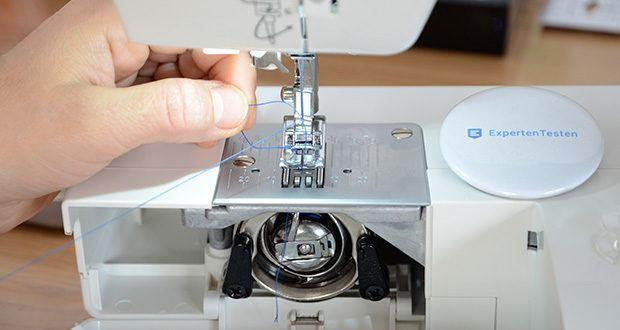 Gritzner Dorina Nähmaschine 333 im Test - genaue Einstellmöglichkeiten der Stichlänge und -breite