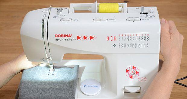 Gritzner Dorina Freiarm-Nähmaschine 323 im Test - eignet sich hervorragend für die Teilnahme an Nähkursen oder für den privaten Hausgebrauch bei der Umsetzung eigener Ideen