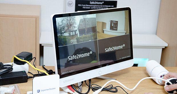 Safe2Home Funk Überwachungskamera Set im Test - 2 Full-HD POE Kameras mit IR-Strahlern für Nachtsicht und IP65 Zertifizierungen für den Außenbereich (hohe Auflösung 1280*1024)